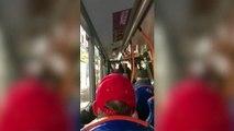 Fallait pas énerver le chauffeur du bus Il met une grosse raclée à un gars un peu agressif