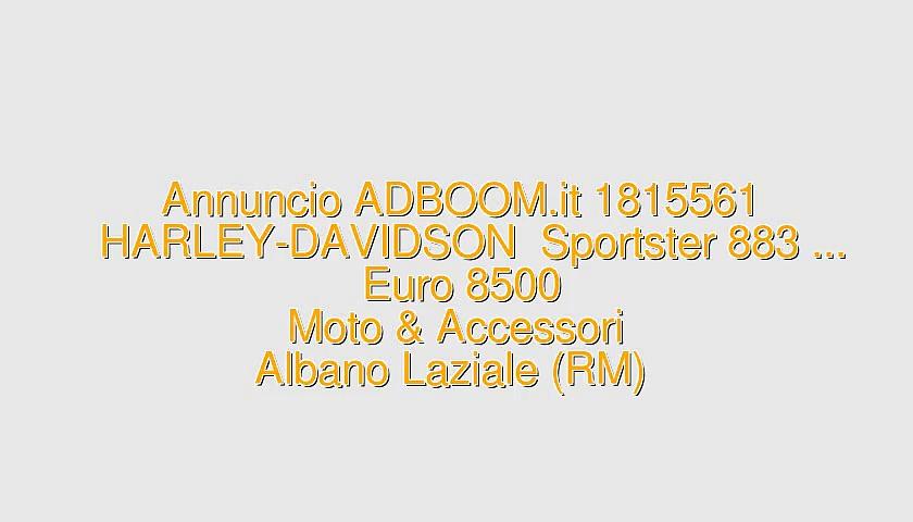 HARLEY-DAVIDSON  Sportster 883 …