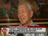 Yasay, tinanggap na ang alok na maging DFA secretary; Dominguez, tumangging maging Finance secretary