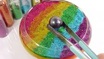 1000 Degree Ball VS Combine Glitter Slime Clay Learn Colors Slime Icecream DIY-x