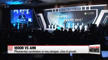 Presidential candidates on key pledges: Moon and Ahn on jobs and growth