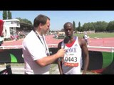 Interview: Clavel Kayitare men's 200m T42 semi-final - 2013 IPCAthletics World Championships Lyon