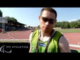 Interview: Jason Smyth after winning gold in 200m T13 at 2013 IPCAthletics World Championships Lyon