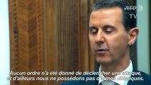 Assad assure ne plus posséder d'armes chimiques