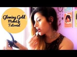 GLOWING GOLD MAKEUP TUTORIAL - Tutorial de maquillaje (Argentina)-BCJ