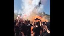 Les ultras de Besiktas mettent un gros bordel à Lyon