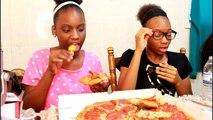 MUKBANG - PAPA JOHNS NEW XL DOUBLE LAYER PEPPERONI PIZZA! EAT WITH US! YUMMYBITESTV KIDS!-rIeMg0jdhGY