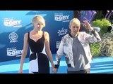 """Ellen DeGeneres and Portia de Rossi """"Finding Dory"""" Premiere Blue Carpet"""