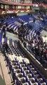 Lyon - Beşiktaş maçı öncesi yüzlerce taraftar sahaya indi. - Beşiktaş maçında büyük kavga