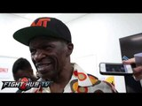"""Mayweather Sr. """"If my son jump on his ass it might not go 6! It's not going the distance"""""""