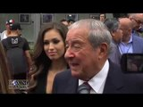 "Bob Arum ""Pacquiao has too much in arsenal for Mayweather"" Gets mad over Haymon question."