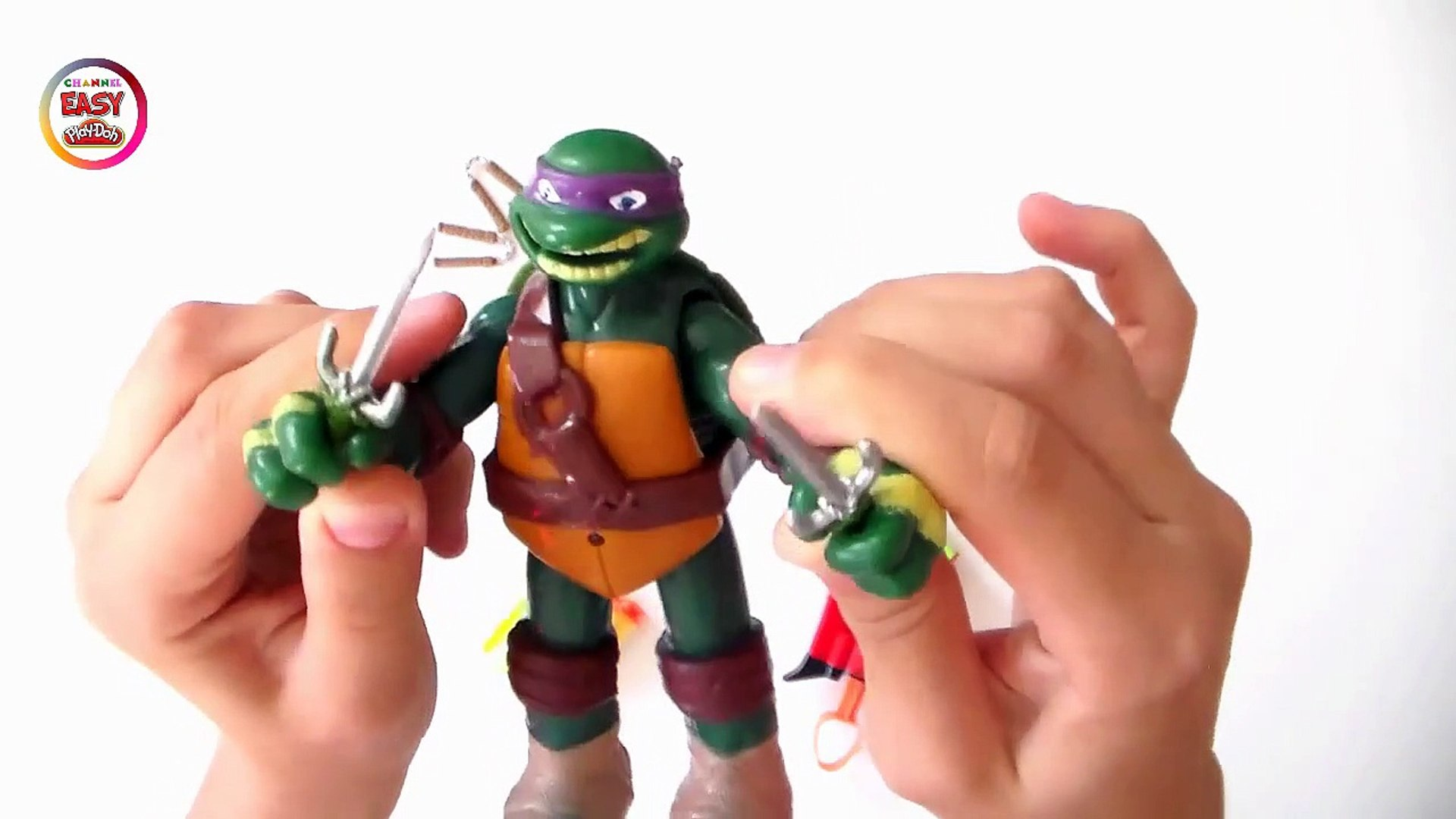 Justice Fighters Toy - Donatello - Teenage Mutan  Play Doh Channel-B