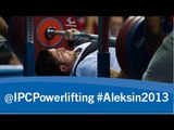 Powerlifting - men's -97kg - 2013 IPC Powerlifting European Open Championships Aleksin