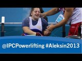 Powerlifting - women's -50kg - 2013 IPC Powerlifting European Open Championships Aleksin