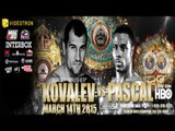 "Sergey Kovalev vs Jean Pascal- Pascal ""Leave that Vada shit alone!"" - Full Media Call"
