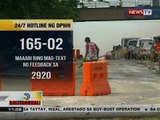 BT: DPWH, mayroon nang 24/7 hotline