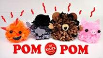 Pom Pom Peppa Pig,Trolls and Nemo Mini Pets - Squishy Toys Craft Kits for Kids