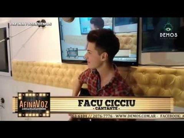 Entrevista a Facu Cicciu en AfinaVoz (Demos RadioVisual)