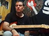 Blues shuffle A - Medium Tempo 12 Bar Blues solo tabs by Gus Quin