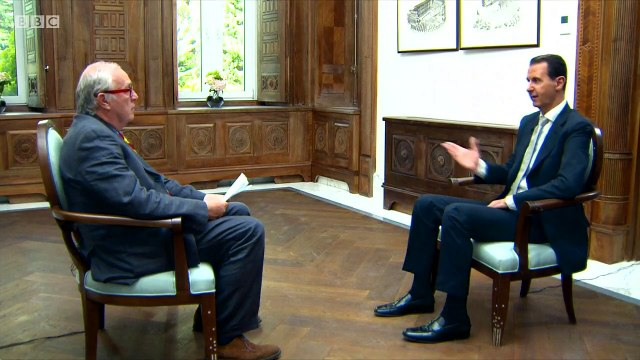 Syria chemical attack 'fabricated' - Assad - BBC News
