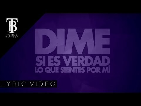 Tommy Boysen - Dime ft. Lonely (Lyric Video)
