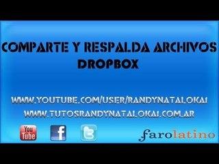 Herramienta para respaldar y compartir Archivos en internet   DropBox  