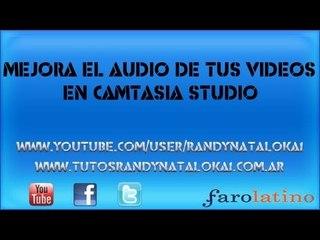 Como mejorar el audio de nuestros videos en camtasia studio