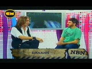 "Emmanuel Danann en el programa de TV ""NBN"""