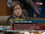 BP: Pahayag ni Sen. Leila de Lima