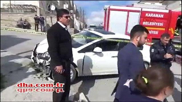 Otomobildeki hasarı görünce çılgına döndü!  oğlunu sopayla kovaladı.