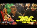 Canelo Alvarez vs. Erislandy Lara: Lara Las Vegas workout as fans show him love