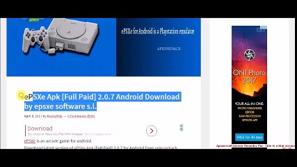 download emulator epsxe 1.7.0 for android