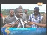 Le Ministre Cissé Bakongo et l'artiste Meiway constatent l'avancé des travaux de l'université