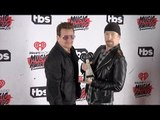 U2 Bono & The Edge 2016 iHeartRadio Music Awards Press Room