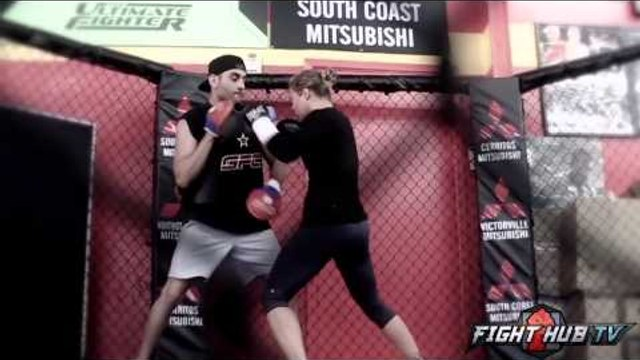 Ronda Rousey vs. Alexis Davis UFC 175 - Rousey training camp footage