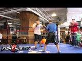 Wilfredo Vazquez Jr. mitt workout ahead of Cotto vs. Martinez bout