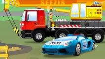 Мультики про машинки Гоночные машины на дороге в городе Монстр Трак и Полиция Мультфильмы для детей