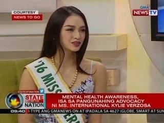 SONA: Mental health awareness, isa sa pangunahing advocacy ni Ms. International Kylie Verzosa