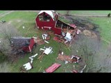 Aerial Footage Shows Aftermath of Tornado in West Michigan