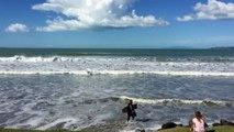Paradise! Top10 beaches in New Zealand. Orewa Beach, Akld New Zealand, thanks to Cyclone Pam!