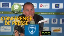 Conférence de presse Chamois Niortais - Stade Brestois 29 (0-3) : Denis RENAUD (CNFC) - Jean-Marc FURLAN (BREST) - 2016/2017