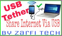How To Reverse Tether - Share PC internet with Android via USB