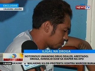 Notorious umanong drug dealer, arestado, droga, isinisilid daw sa diaper ng apo