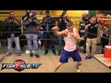 Orlando Salido vs. Vasyl Lomachenko- Lomachenko workout highlights