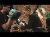 UFC 170- Ronda Rousey vs. Sara McMann- Rousey workout highlights (HD)