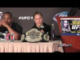 UFC 170 Rousey vs. McMann post fight press conference highlights