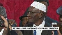 28 tirailleurs sénégalais naturalisés à l'Elysée - France