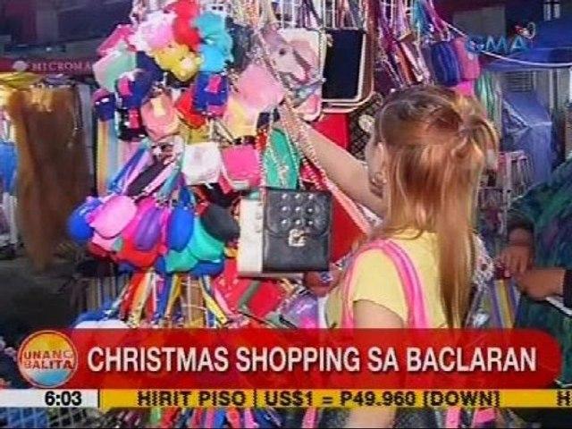 UB: Christmas shopping sa Baclaran