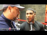 """Yuriorkis Gamboa """"I'm here at 135. Adrien Broner knows where to find me"""" Misses Mayweather"""