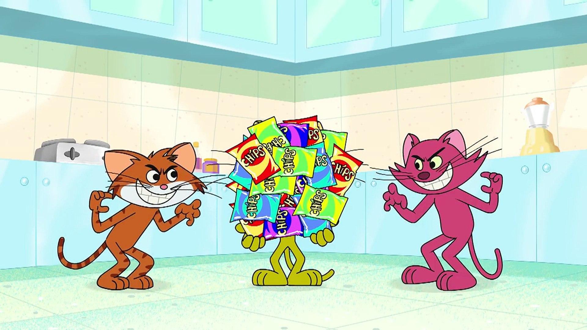 """Kedi ve Papağancık _""""Ev Partisi Oyunları"""" _Komik Çizgi Filmler _ Chotoonz Çocuk Çizgi Filmleri,Çi"""